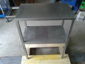 table inox sur mesure